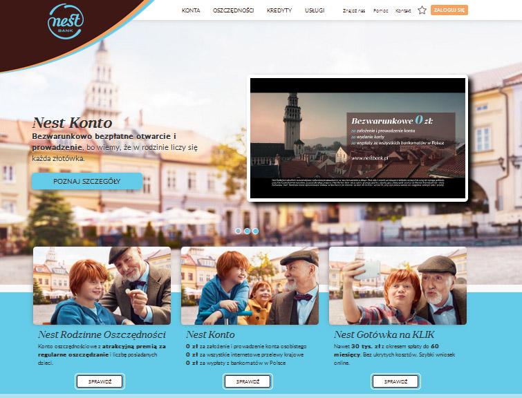 Strona Nest Bank Zrzut Ekranu